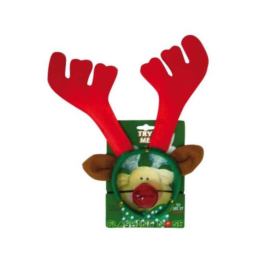 Diadem reindeer with flashing nose-2