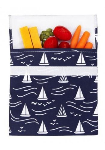 Lunchskins Reusable sandwich bag navy Boat