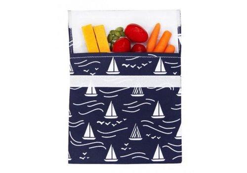 Lunchskins Herbruikbaar boterhamzakje Navy Boat