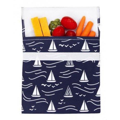 Lunchskins Reusable sandwich bag navy Boat