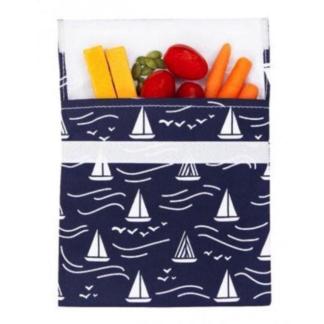 Reusable sandwich bag navy Boat
