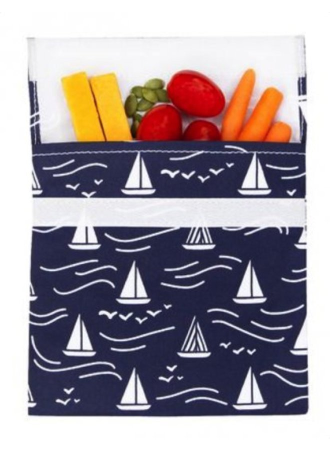 Reusable sandwich bag navy Boat