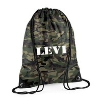 thumb-Gym bag with name in camouflage colors-1