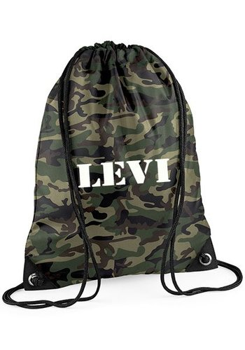 Gym bag with name - camouflage