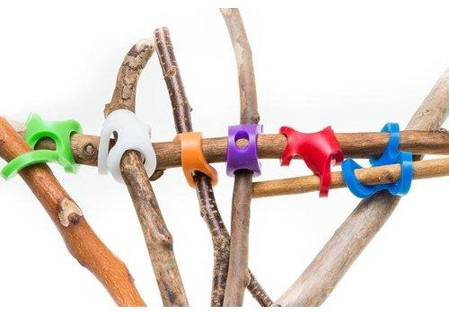 Stick-Lets Hexa Fort kit : 6  silicone verbindingsstukken
