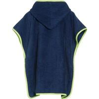 thumb-Blue bath cape, beach poncho with hood - submarine-2