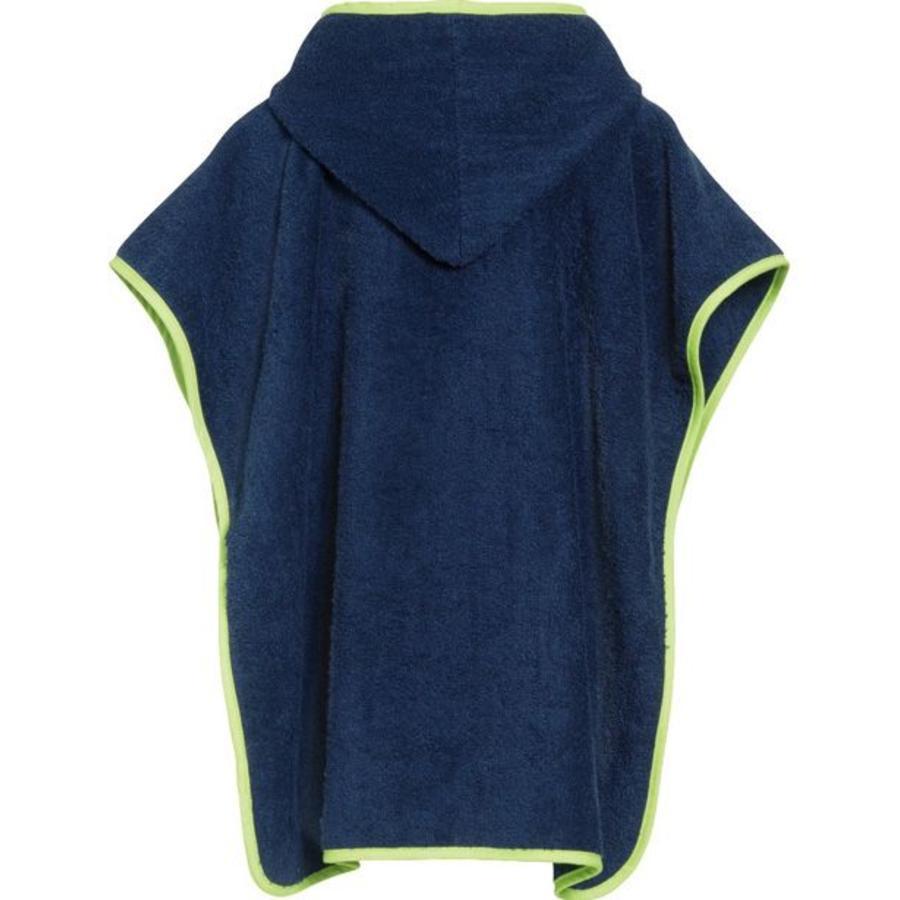 Blue bath cape, beach poncho with hood - submarine-2