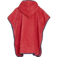 thumb-Red children's bath cape, beach poncho with hood - Diver-2