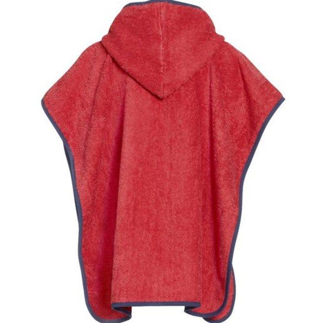 Rode kinder badcape, strand poncho met capuchon - Duiker