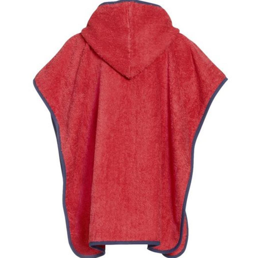 Rode kinder badcape, strand poncho met capuchon - Duiker-2
