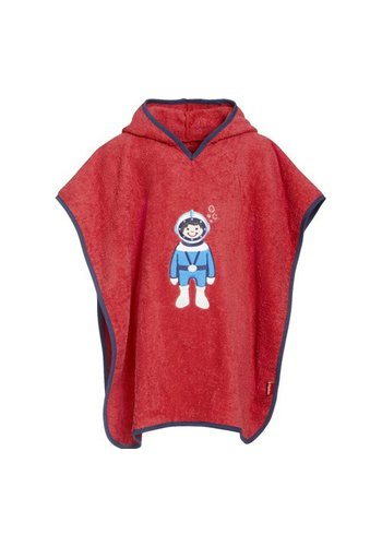 Playshoes Bathcape, beach poncho red- Diver