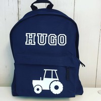 thumb-Junior rugzak met tractor en naam-5