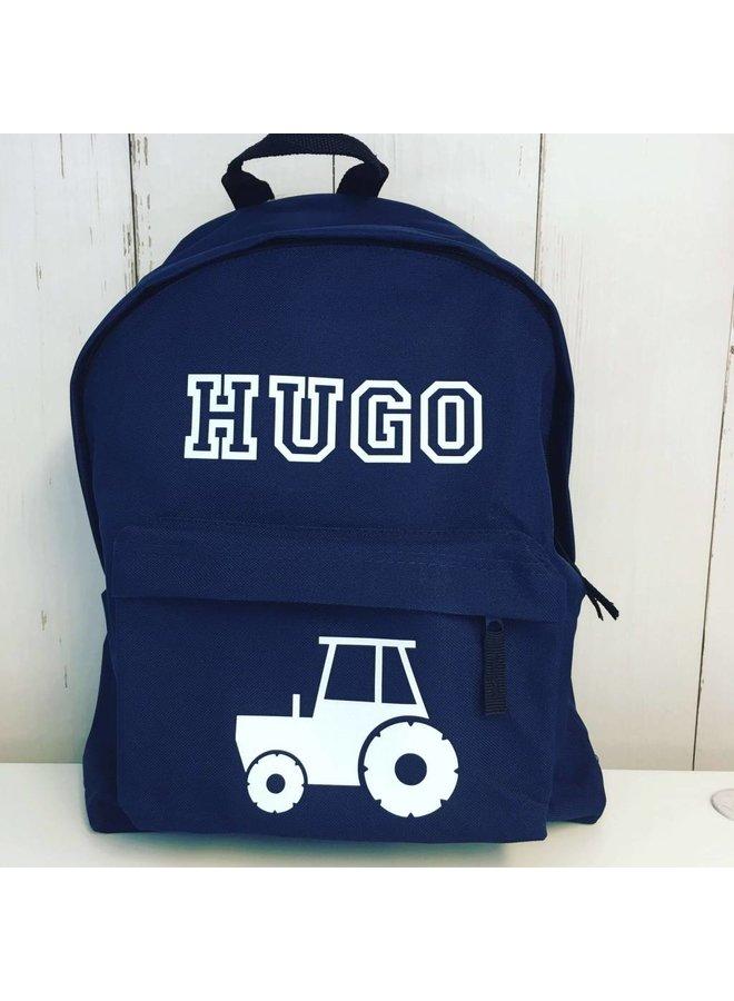 Junior rugzak met tractor en naam