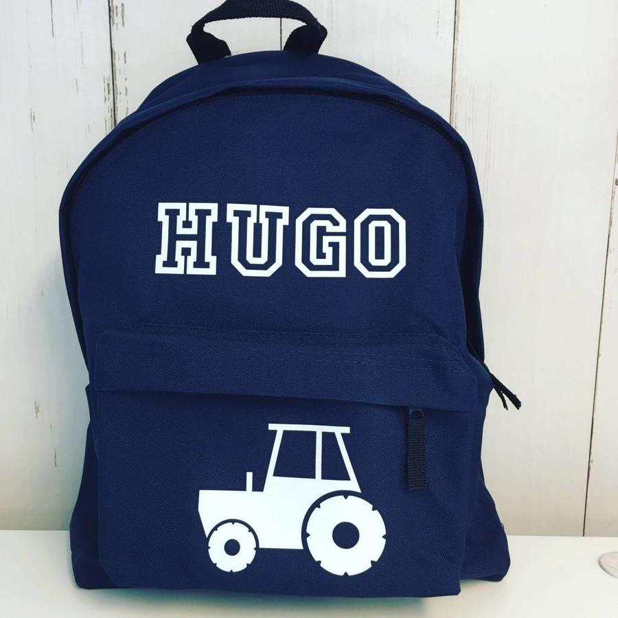 Junior rugzak met tractor en naam-5