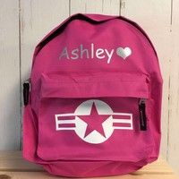 thumb-Backpack with name print and stars & stripes-1