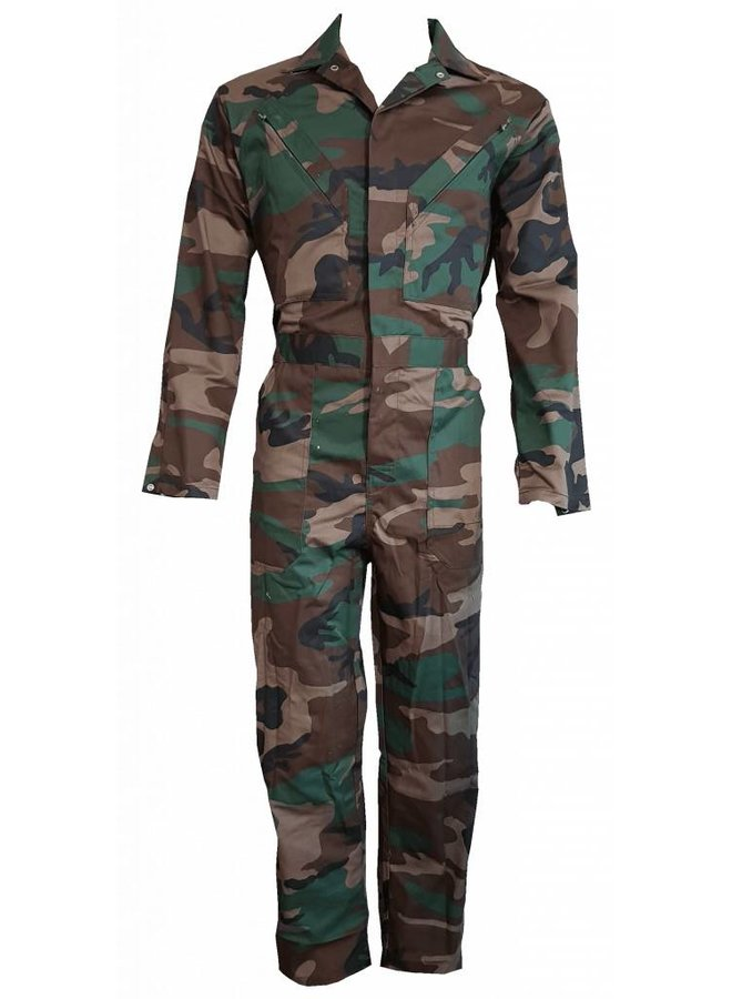 Children's overall in camouflage colors