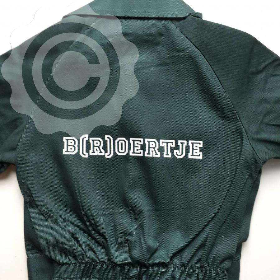Black overalls with name or text printing-2