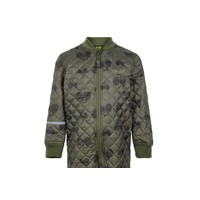 thumb-Quilted thermal coverall with tractor in green| 80-104-2