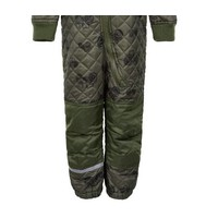 thumb-Quilted thermal coverall with tractor in green| 80-104-3