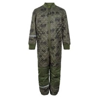 thumb-Quilted thermal coverall with tractor in green| 80-104-4