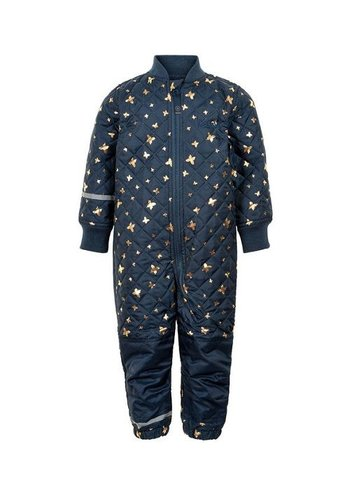 CeLaVi Thermo overall met vlinder dessin- blauw