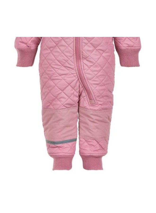 Water repellent thermal suit one piece -pink rose