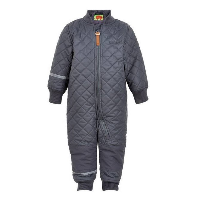 Water repellent Thermal suit one piece- grey