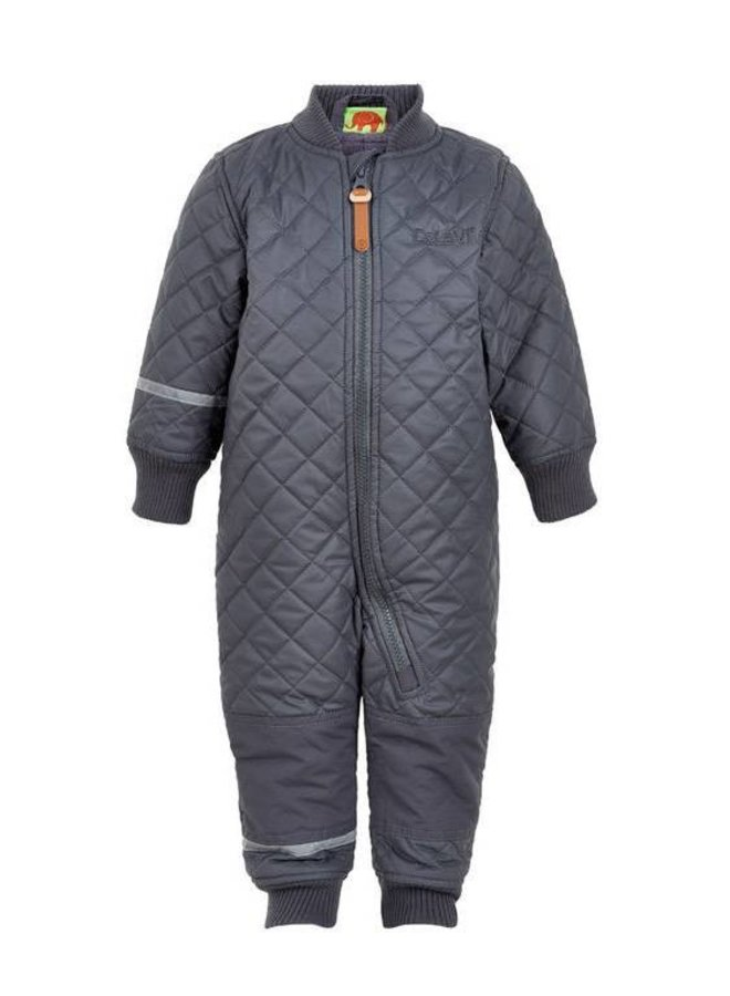 Water repellent thermal suit one piece - grey