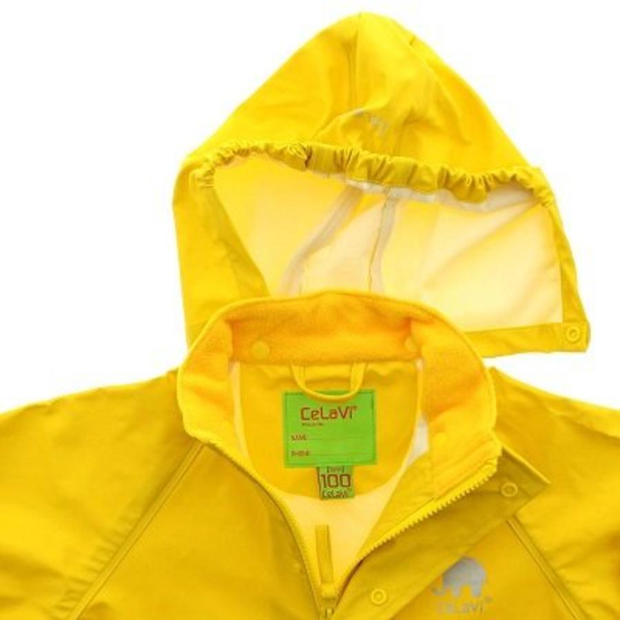 Waterproof yellow raincoat with hood-4