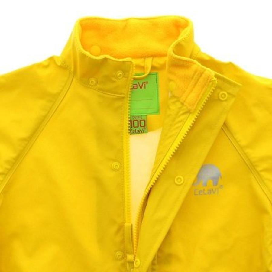 Waterproof yellow raincoat with hood-2
