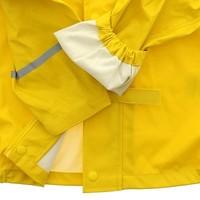 thumb-Waterproof yellow raincoat with hood-6