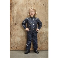 thumb-Quilted thermo set jacket and pants with butterflies| 110-128-1