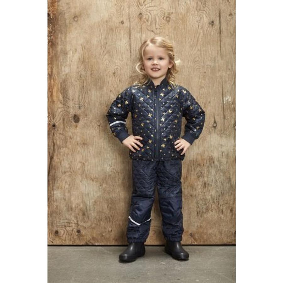 Quilted thermo set jacket and pants with butterflies| 110-128-1