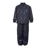 thumb-Quilted thermo set jacket and pants with butterflies| 110-128-2