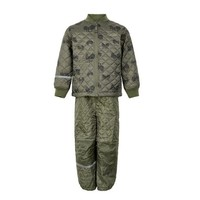 thumb-Quilted thermo set jacket and pants with tractor print| 110-128-1