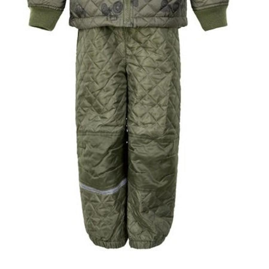 Quilted thermo set jacket and pants with tractor print| 110-128-3