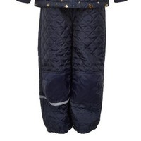 thumb-Quilted thermo set jacket and pants with butterflies| 110-128-4