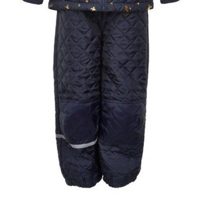 Gewatteerd thermo set jasje en broek met vlinders  110-128