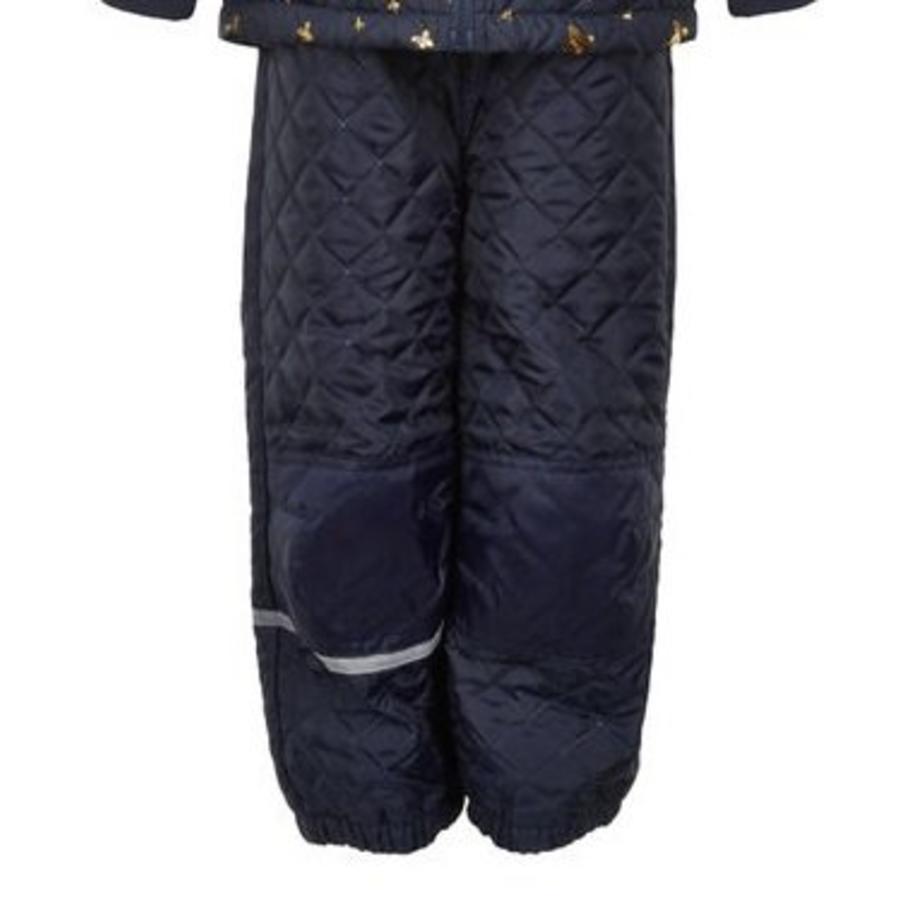 Gewatteerd thermo set jasje en broek met vlinders  110-128-4