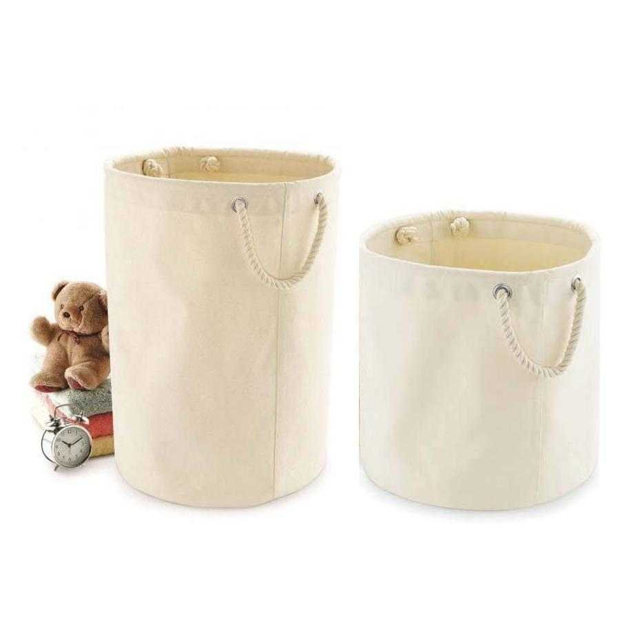 Canvas toy basket with sturdy handles-4