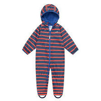 thumb-Lined, durable rain suit ECOSPLASH, in red with blue stripes-4