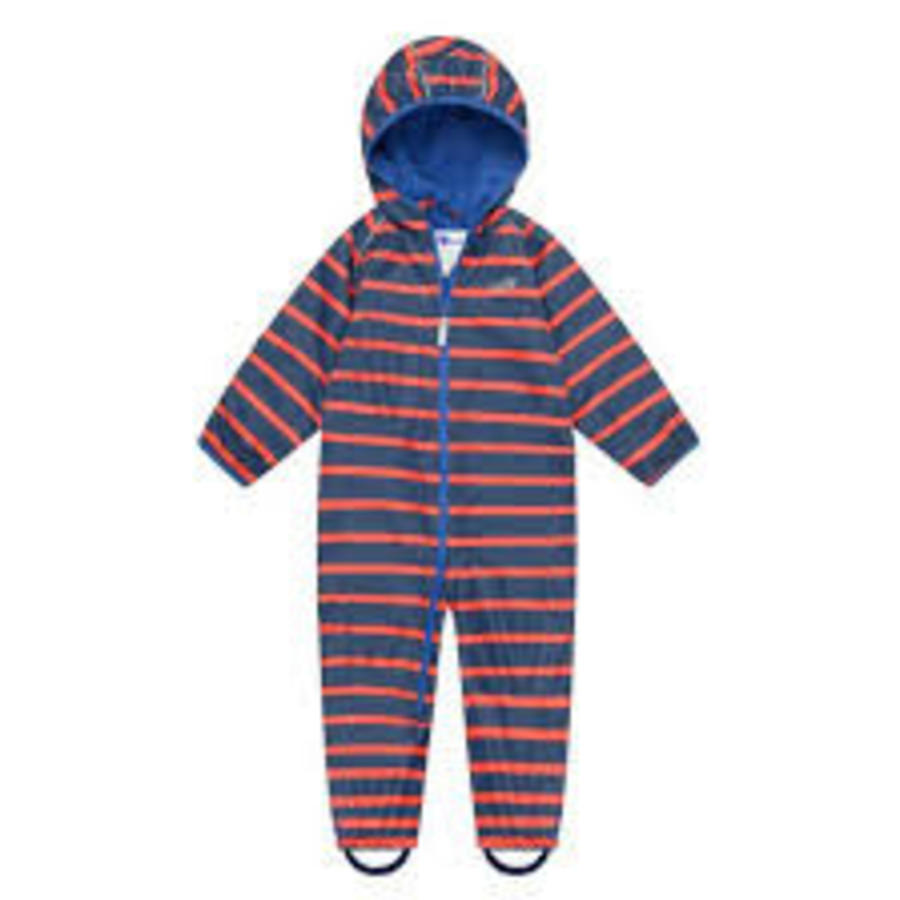 Lined, durable rain suit ECOSPLASH, in red with blue stripes-4