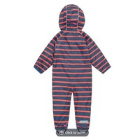 thumb-Lined, durable rain suit ECOSPLASH, in red with blue stripes-5