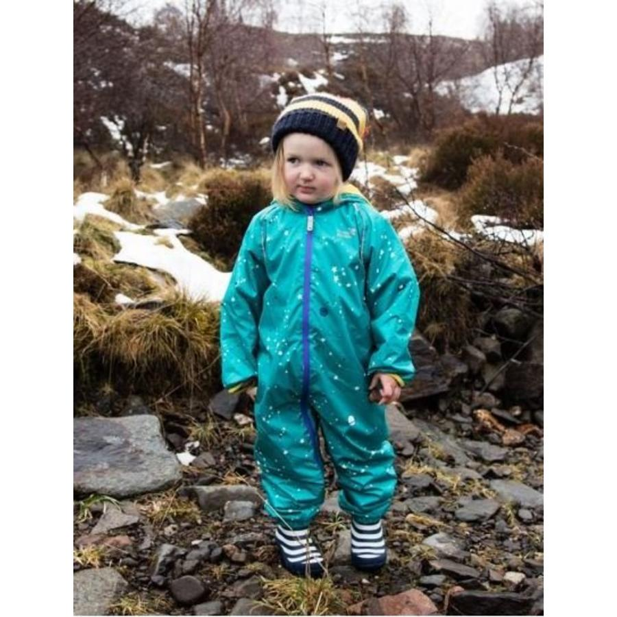 Lined, durable rain suit ECOSPLASH, Universe | 0-6 years-3