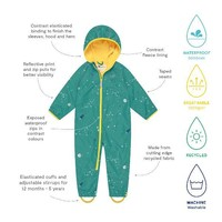 thumb-Lined, durable rain suit ECOSPLASH, Universe | 0-6 years-4