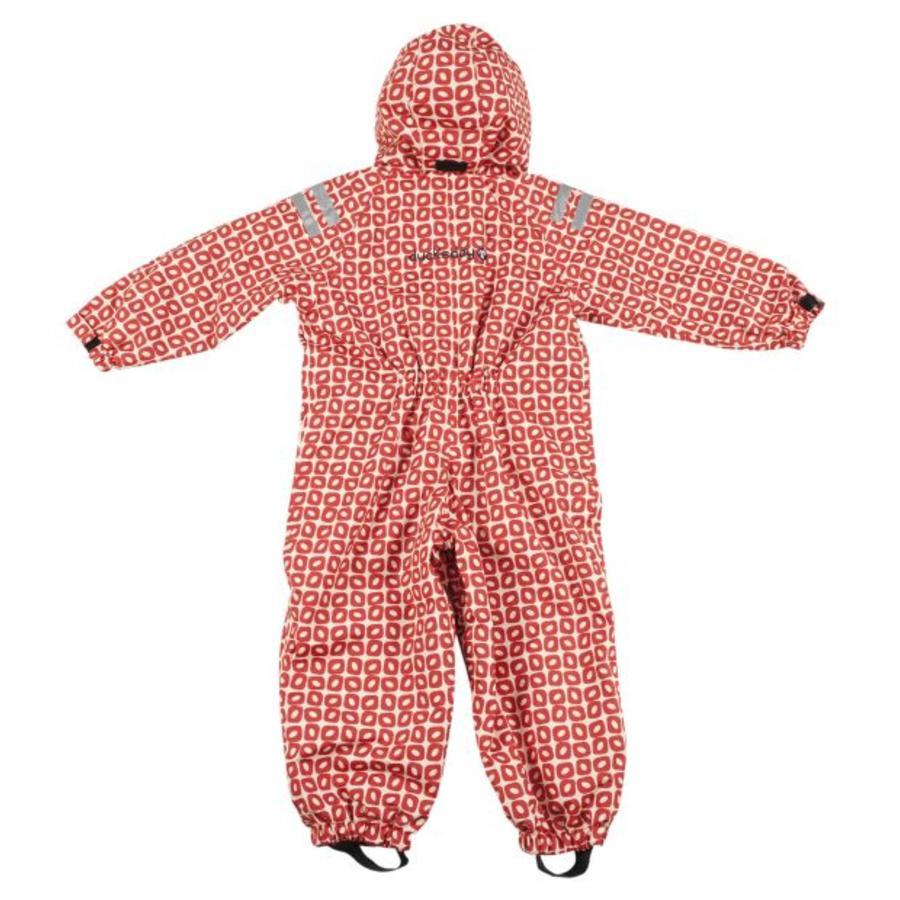 Durable children's rain suit Funky Red| 74-116-3