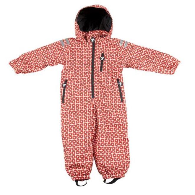 Durable children's rain suit Funky Red| 74-116