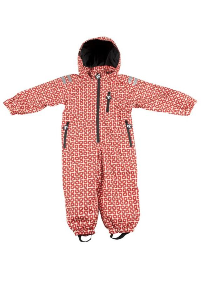 Durable children's rain suit Funky Red| 74-116