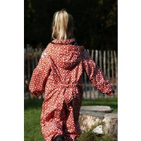 thumb-Durable children's rain suit Funky Red| 74-116-1