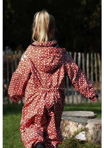 Ducksday buitenkleding Duurzaam regenpak  Funky Red | 74-116